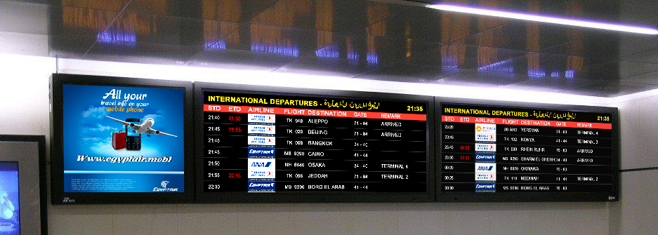 Hantarex LED Boards installation in Hurghada Airport